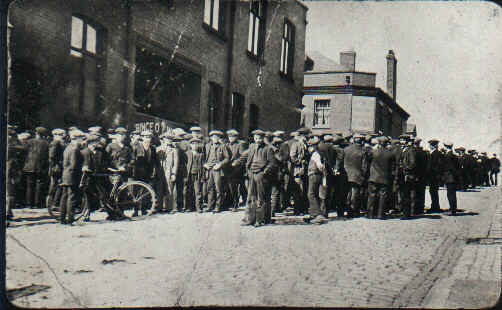 Tyldesley miners outside the Miners Hall during the 1926 General Strike